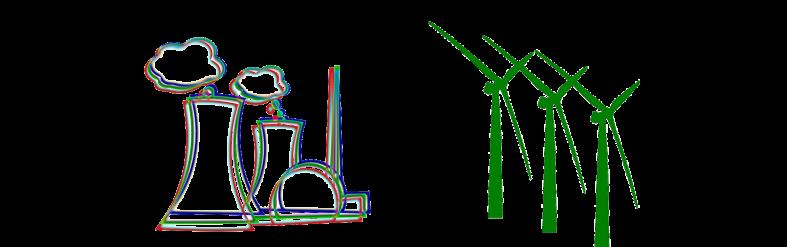 Energía nuclear y eólica